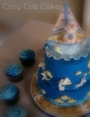 Nautical Baby Shower Cake