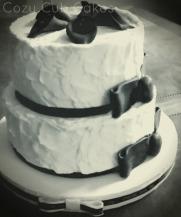Rustic Black and White Wedding Cake