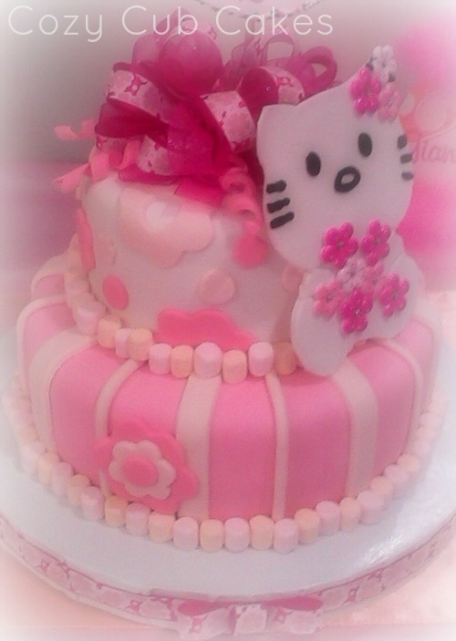 Enjoyable Hello Kitty Birthday Cake Cozy Cub Cakes Funny Birthday Cards Online Aboleapandamsfinfo