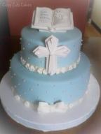 Boys Baptism Cake